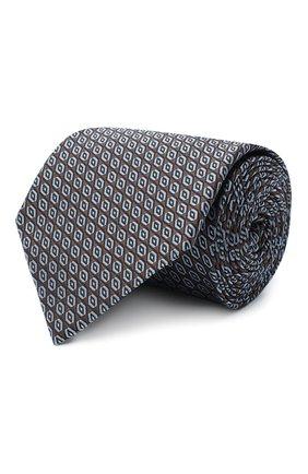 Мужской шелковый галстук ERMENEGILDO ZEGNA коричневого цвета, арт. Z8D92/1XW | Фото 1