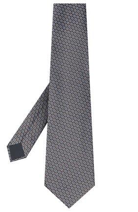 Мужской шелковый галстук ERMENEGILDO ZEGNA коричневого цвета, арт. Z8D92/1XW | Фото 2