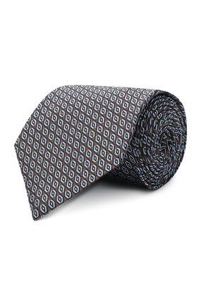 Мужской шелковый галстук ERMENEGILDO ZEGNA коричневого цвета, арт. Z8D92/1UM | Фото 1