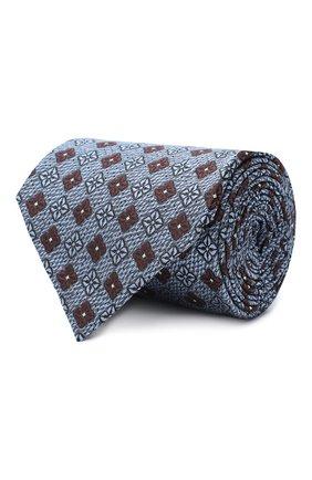 Мужской шелковый галстук ERMENEGILDO ZEGNA голубого цвета, арт. Z8D92/1UM   Фото 1