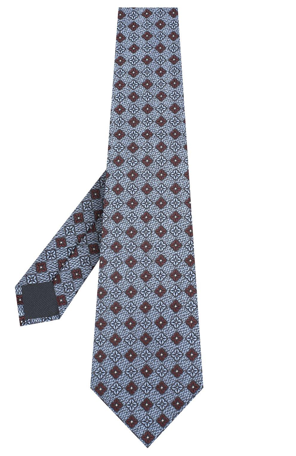 Мужской шелковый галстук ERMENEGILDO ZEGNA голубого цвета, арт. Z8D92/1UM   Фото 2