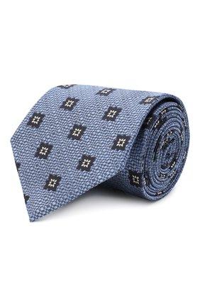 Мужской шелковый галстук ERMENEGILDO ZEGNA голубого цвета, арт. Z8D92/1UM | Фото 1