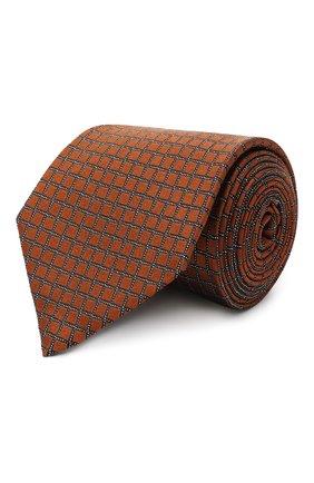 Мужской шелковый галстук ERMENEGILDO ZEGNA светло-коричневого цвета, арт. Z8D74/1UM | Фото 1