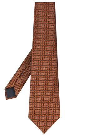 Мужской шелковый галстук ERMENEGILDO ZEGNA светло-коричневого цвета, арт. Z8D74/1UM | Фото 2