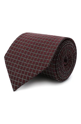Мужской шелковый галстук ERMENEGILDO ZEGNA коричневого цвета, арт. Z8D73/1UM | Фото 1