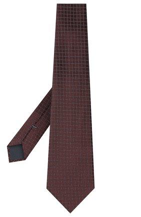 Мужской шелковый галстук ERMENEGILDO ZEGNA коричневого цвета, арт. Z8D73/1UM | Фото 2