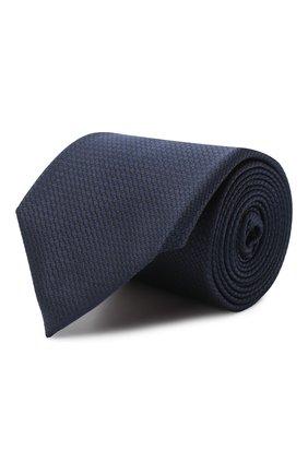 Мужской шелковый галстук ERMENEGILDO ZEGNA темно-синего цвета, арт. Z8D11/18B   Фото 1
