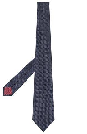 Мужской шелковый галстук ERMENEGILDO ZEGNA темно-синего цвета, арт. Z8D11/18B   Фото 2
