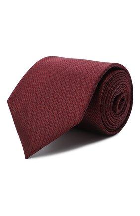 Мужской шелковый галстук ERMENEGILDO ZEGNA бордового цвета, арт. Z8D10/18B | Фото 1