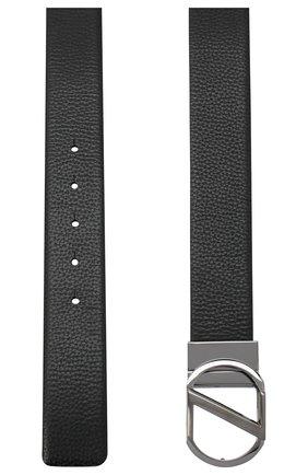 Мужской кожаный ремень Z ZEGNA черного цвета, арт. BAMPE1/958A | Фото 2