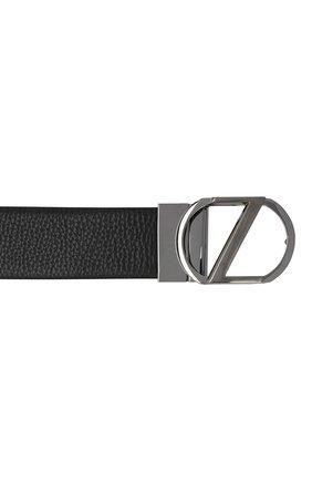 Мужской кожаный ремень Z ZEGNA черного цвета, арт. BAMPE1/958A | Фото 3