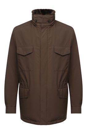 Мужская куртка с меховой подкладкой LORO PIANA коричневого цвета, арт. FAL3626 | Фото 1