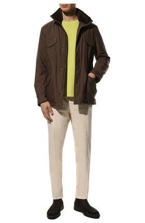 Мужская куртка с меховой подкладкой LORO PIANA коричневого цвета, арт. FAL3626 | Фото 2
