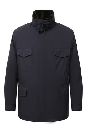 Мужская куртка с меховой подкладкой LORO PIANA темно-синего цвета, арт. FAL3626 | Фото 1