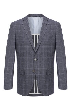 Мужской шерстяной пиджак BOSS темно-синего цвета, арт. 50438332   Фото 1