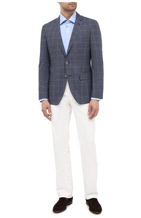 Мужской шерстяной пиджак BOSS темно-синего цвета, арт. 50438332   Фото 2