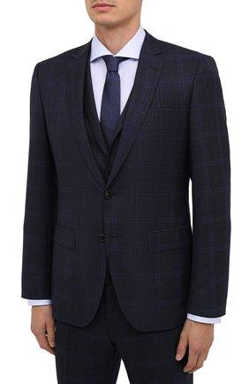 Мужской шерстяной костюм-тройка BOSS темно-синего цвета, арт. 50438573 | Фото 2