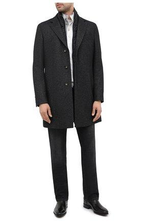 Мужской пальто из шерсти и вискозы BOSS темно-серого цвета, арт. 50438523 | Фото 2