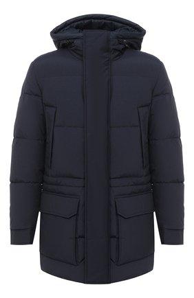 Мужская утепленная куртка BOSS темно-синего цвета, арт. 50436497   Фото 1