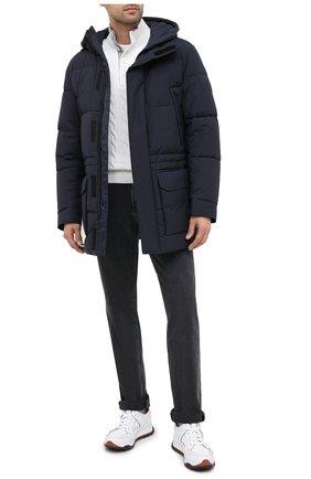 Мужская утепленная куртка BOSS темно-синего цвета, арт. 50436497   Фото 2
