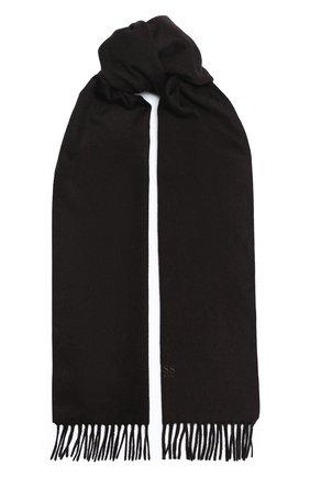 Мужской кашемировый шарф BOSS темно-коричневого цвета, арт. 50415017 | Фото 1