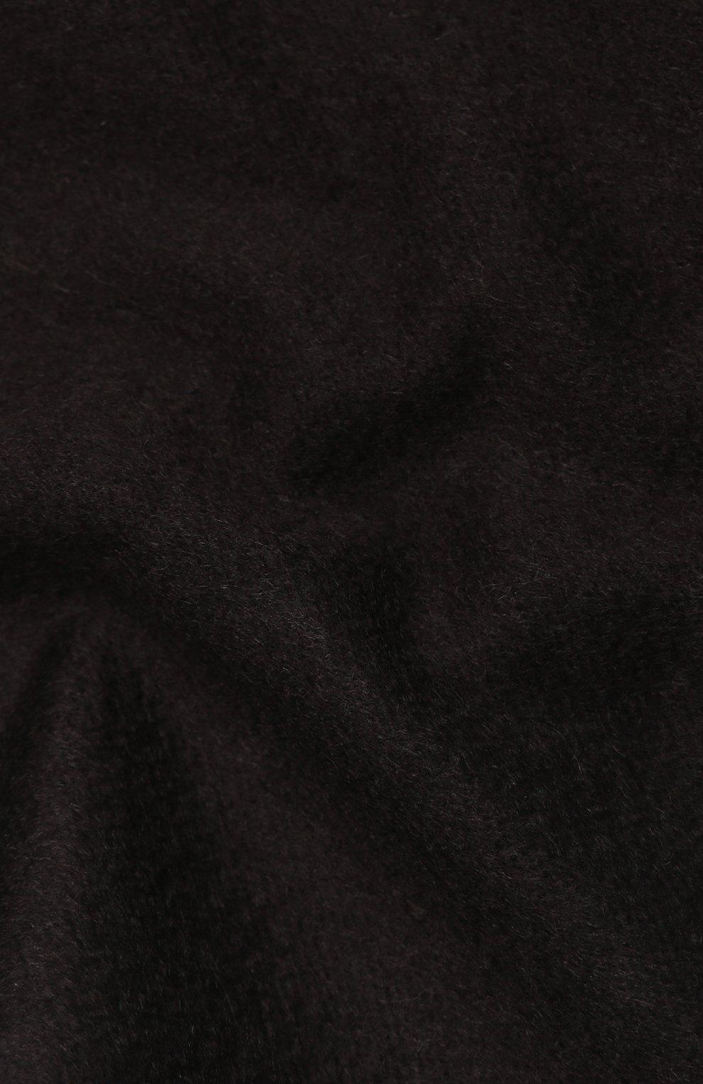 Мужской кашемировый шарф BOSS темно-коричневого цвета, арт. 50415017   Фото 2