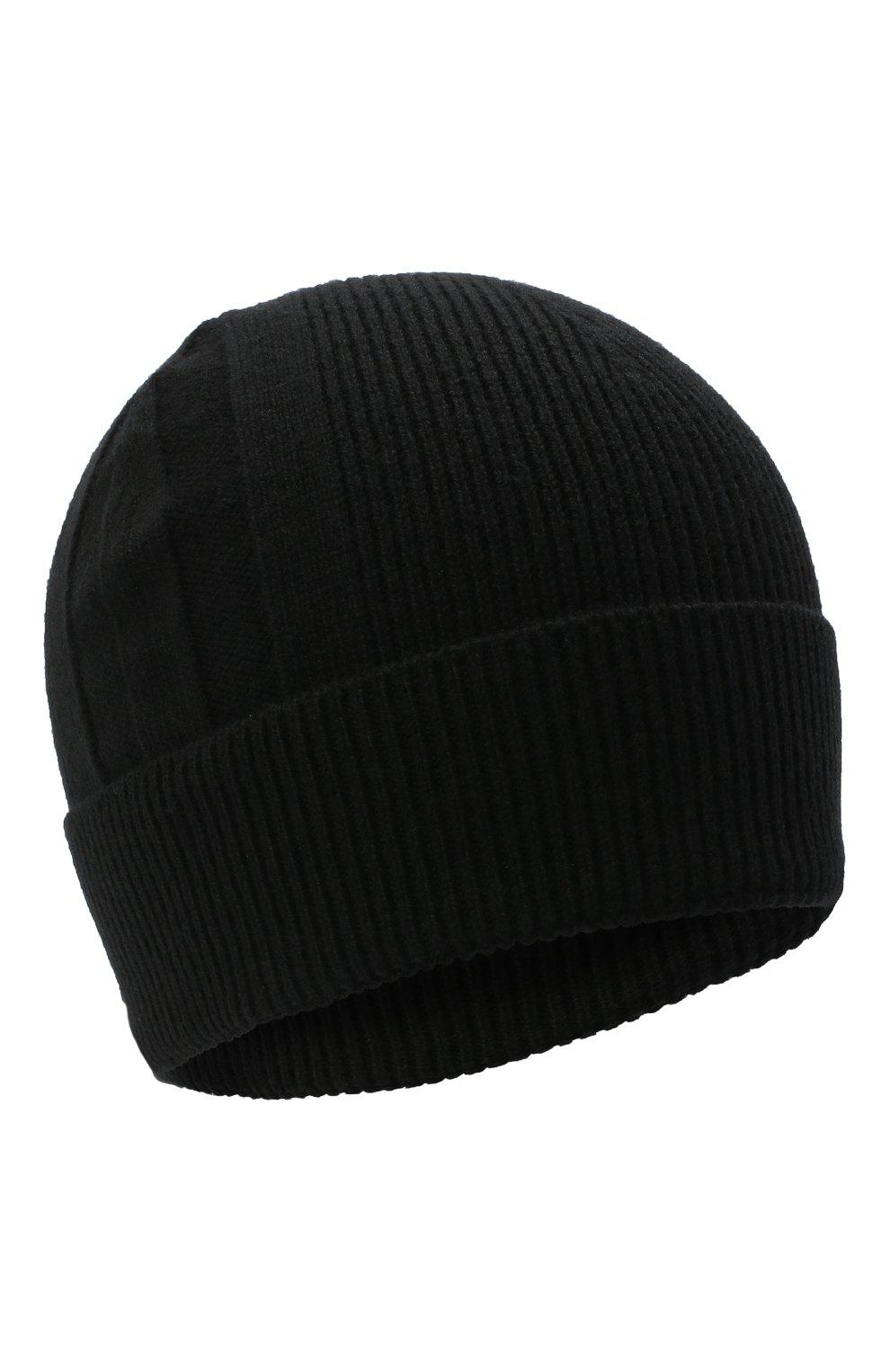 Мужская кашемировая шапка BOSS черного цвета, арт. 50439002 | Фото 1