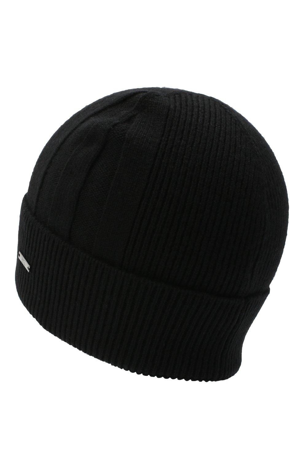 Мужская кашемировая шапка BOSS черного цвета, арт. 50439002 | Фото 2