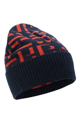 Мужская шапка BOSS синего цвета, арт. 50443031 | Фото 1