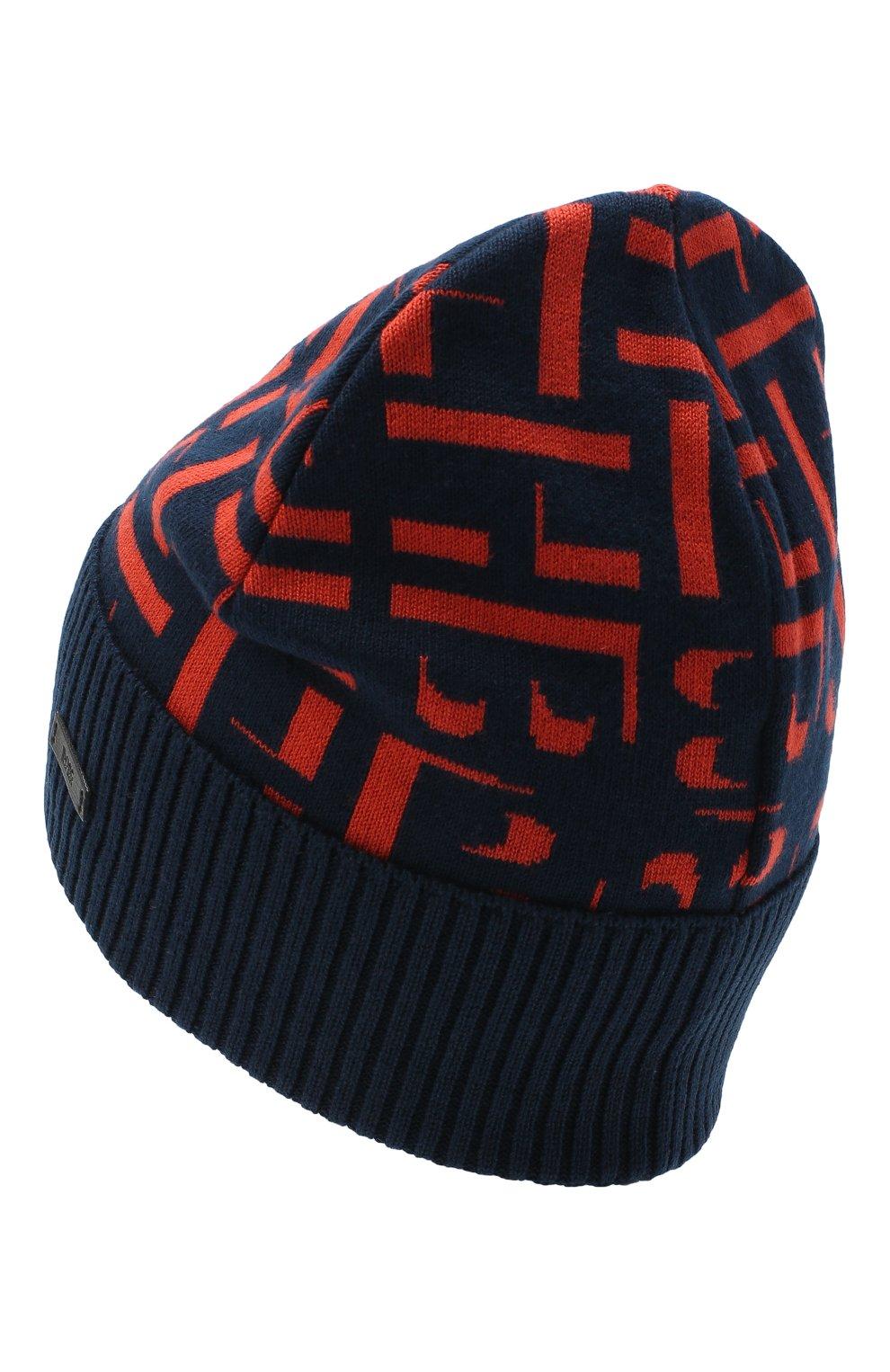 Мужская шапка BOSS синего цвета, арт. 50443031 | Фото 2