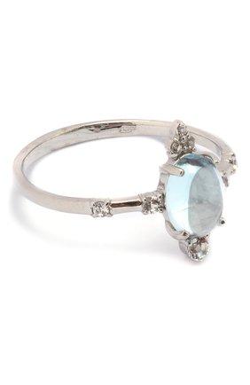 Женское кольцо с голубым топазом MOONKA серебряного цвета, арт. ai-sr-tpz   Фото 1 (Материал: Серебро)