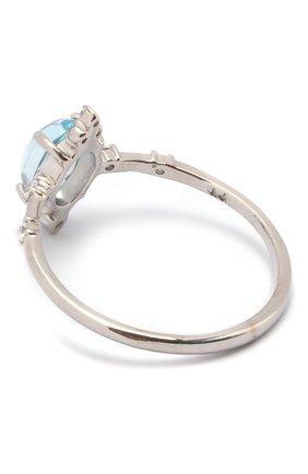 Женское кольцо с голубым топазом MOONKA серебряного цвета, арт. ai-sr-tpz   Фото 2 (Материал: Серебро)