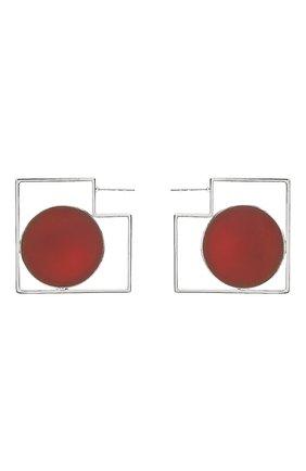Женские серьги CRYSTALLINE JEWELLERY красного цвета, арт. 367E | Фото 1