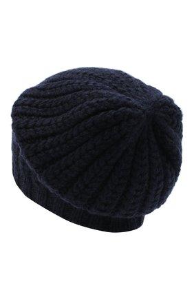 Женский кашемировая шапка WILLIAM SHARP темно-синего цвета, арт. A76-PL-19 | Фото 2