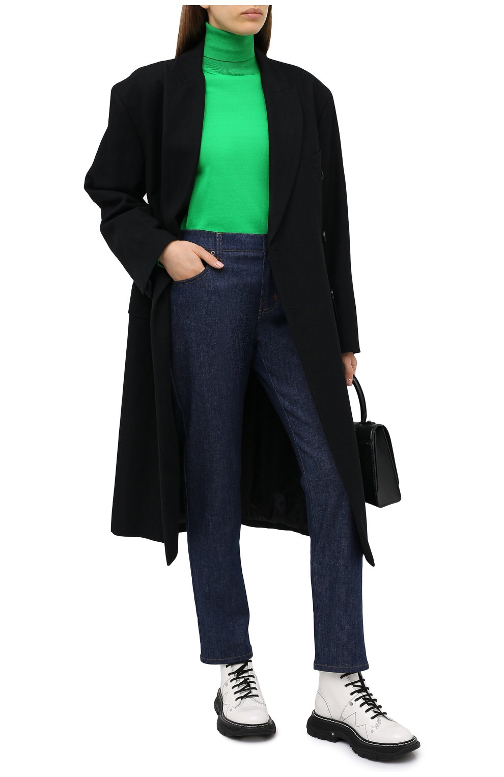 Женская водолазка TOM FORD зеленого цвета, арт. MAK1031-YAX283 | Фото 2