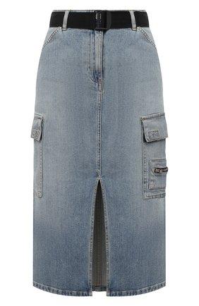 Женская джинсовая юбка 3X1 синего цвета, арт. WS0091079/BARLETT | Фото 1