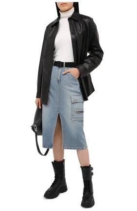 Женская джинсовая юбка 3X1 синего цвета, арт. WS0091079/BARLETT | Фото 2