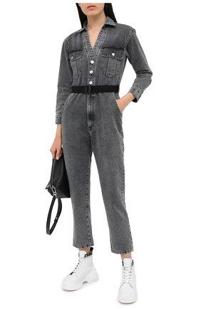 Женский джинсовый комбинезон 3X1 серого цвета, арт. WR0071082/ASHA | Фото 2