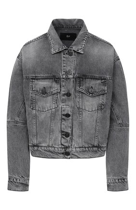 Женская джинсовая куртка 3X1 серого цвета, арт. WJ0071082/ASHA | Фото 1