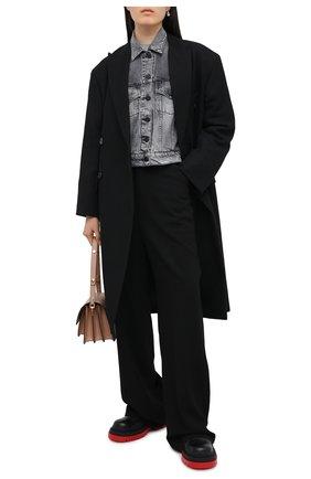 Женская джинсовая куртка 3X1 серого цвета, арт. WJ0071082/ASHA | Фото 2