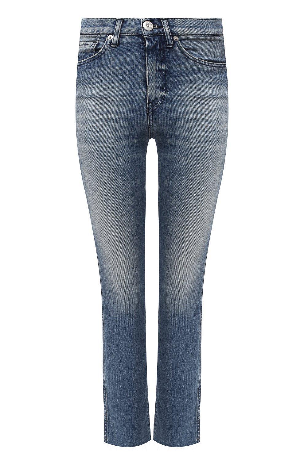 Женские джинсы 3X1 синего цвета, арт. W3SAC1079/EIZA   Фото 1 (Кросс-КТ: Деним; Длина (брюки, джинсы): Стандартные; Силуэт Ж (брюки и джинсы): Прямые; Материал внешний: Хлопок; Стили: Кэжуэл)