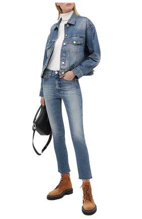 Женские джинсы 3X1 синего цвета, арт. W3SAC1079/EIZA | Фото 2