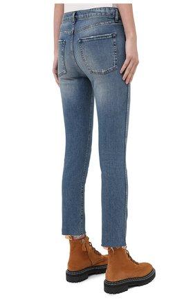 Женские джинсы 3X1 синего цвета, арт. W3SAC1079/EIZA   Фото 4 (Кросс-КТ: Деним; Длина (брюки, джинсы): Стандартные; Силуэт Ж (брюки и джинсы): Прямые; Материал внешний: Хлопок; Стили: Кэжуэл)