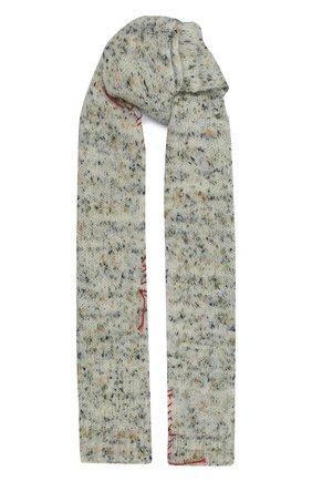 Женский шерстяной шарф MAISON MARGIELA серого цвета, арт. S51TE0088/S17472   Фото 1