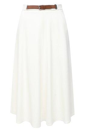 Женская шерстяная юбка RALPH LAUREN кремвого цвета, арт. 290815540 | Фото 1