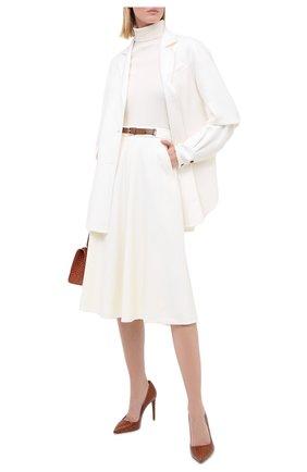 Женская шерстяная юбка RALPH LAUREN кремвого цвета, арт. 290815540 | Фото 2
