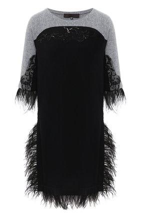 Женское кашемировое платье TEGIN черного цвета, арт. FD4512 | Фото 1