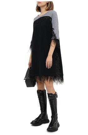 Женское кашемировое платье TEGIN черного цвета, арт. FD4512 | Фото 2