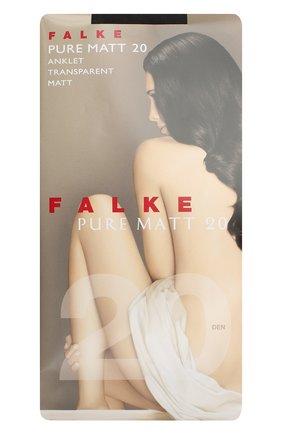 Женские капроновые носки pure matt FALKE коричневого цвета, арт. 41312 | Фото 1