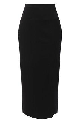 Женская шерстяная юбка TEGIN черного цвета, арт. FS2068   Фото 1